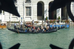 More gondolas on the Grand Canal as seen from the Peggy Guggenheim Collection
