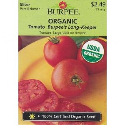 Burpee's Organic Long-Keeper Tomato Seeds - 75 mg