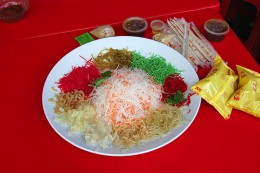 Rainbow Yee Sang dish A must for the Chinese New Year
