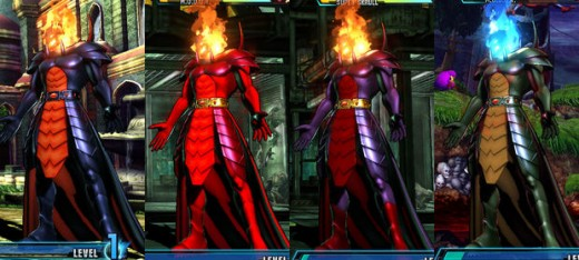 Viewtiful Joe comes in with all colors whereas Dormammu is more of the warm colored persuasion
