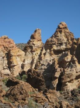 Weird volcanic rock formations