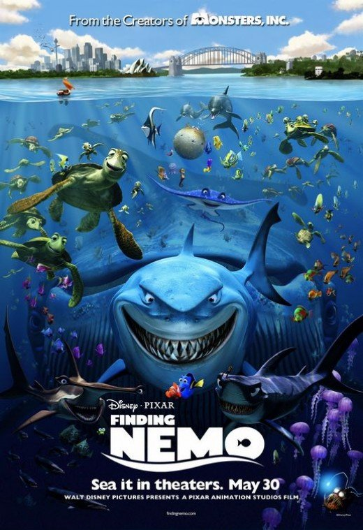 "Original theatrical poster for ""Finding Nemo."""