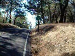 Picture I took in 2002 of the last paved mile of Highway 173, which was the last dirty road in the California Highway system.