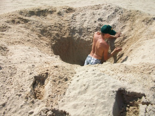 digging a sand trap