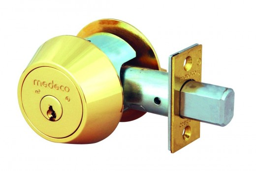 When there is glass in or near the door, a deadbolt lock is needed that requires a key to unlock it from the inside.