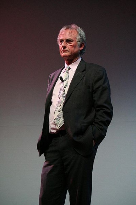 Richard Dawkins, self-avowed atheist, standing at the University of Texas, Austin (March 2008 ).