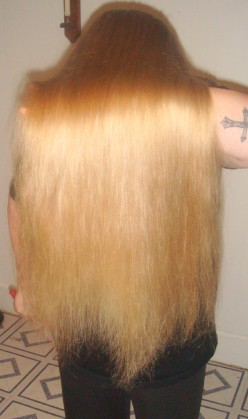 Long Blonde Hair, but trims are necessary!