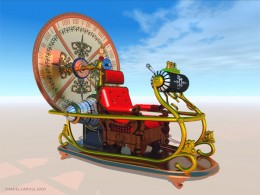 One artistic rendering of a time machine