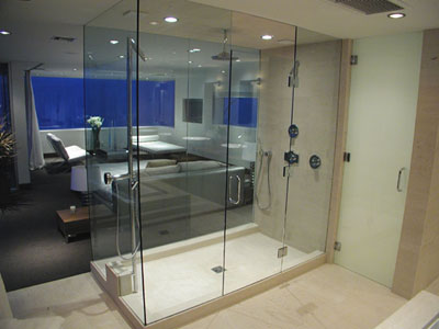 Amazing shower system showing the full effect you can create with a custom shower