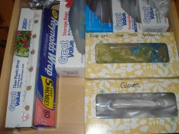 Tissue boxes can make great storage!