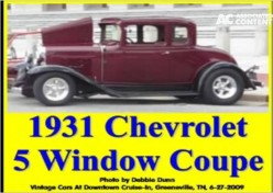 Ask DJ Lyons: 1931 Chevrolet 5 Window Coupe