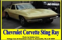 Ask DJ Lyons: Chevrolet Corvette Sting Ray