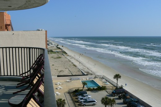 Daytona Beach, Florida from our condo balcony