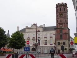 Menen's town hall and belfry