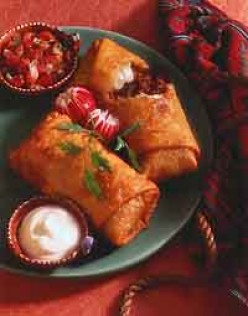How to Make a Chimichanga. A Crispy Fried Mexican Burrito!