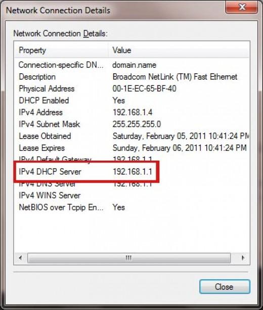 DHCP Server IP Address