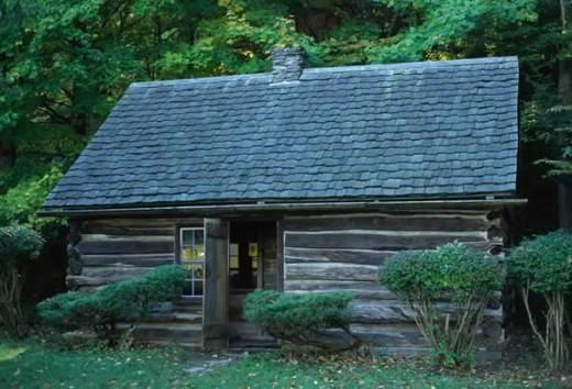 Millard Fillmore birthplace replica, Fillmore Glen State Park, New York.