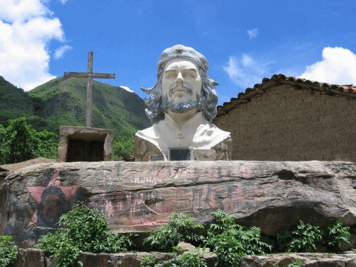 Monument in Bolivia where Che was killed