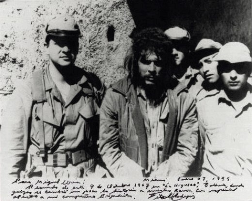 Che is captured by Bolivian army. Picture taken a few hours before his execution.