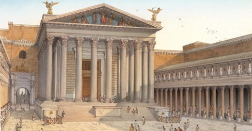 The Forum as it looked during Cicero's day