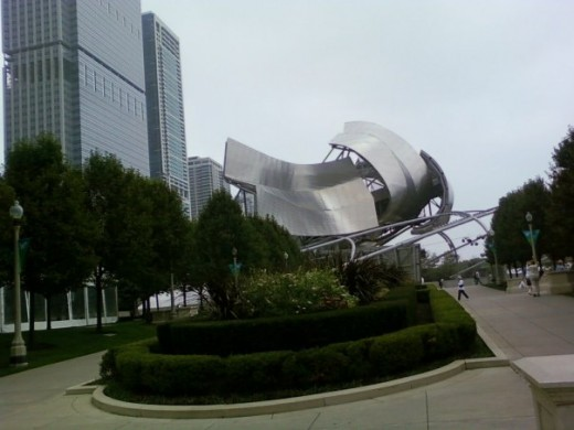 Amphitheater at Millennium Park, Downtown Chicago, Illinois