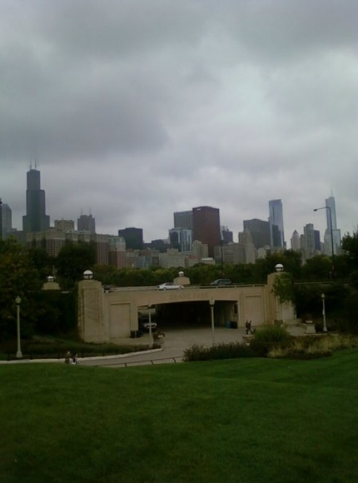 Skyline and museum campus, Downtown Chicago, Illinois
