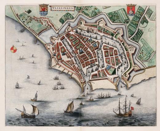 1649 Atlas van Loon map of Vlissingen