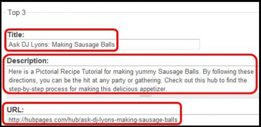 Step 19 - 3rd top about Sausage Balls