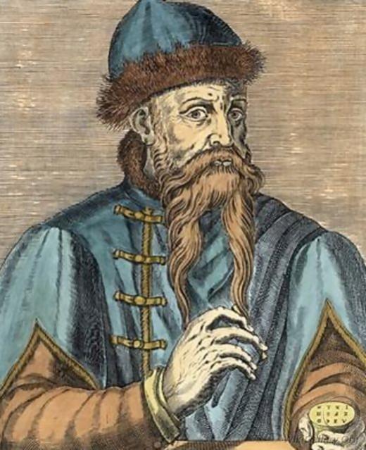 Portrait of Johannes Gutenberg