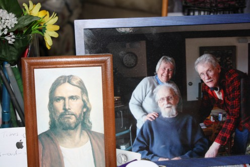 The Savior, Jesus Christ,  with my Dad, a friend and me. The spear that pierced his side has been called the 'Spear of Destiny' or 'Longinus' Lance'