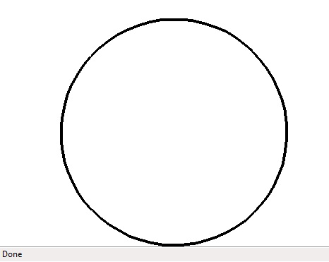 A slightly irregular, but very recognizable circle