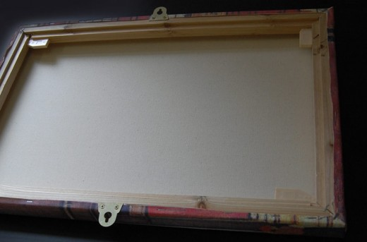 Canvas With Mirror Plates Mounted On Outside