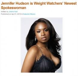 Jennifer Hudson, Weight Watchers spokesperson