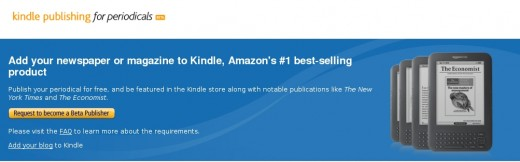 Amazon Kindle Publishing for Periodicals