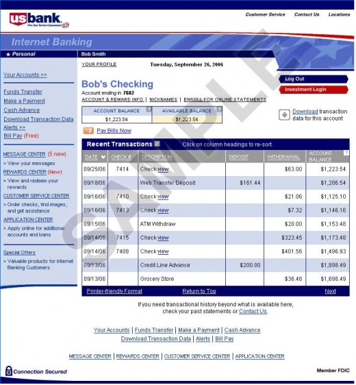 Checking Transaction details
