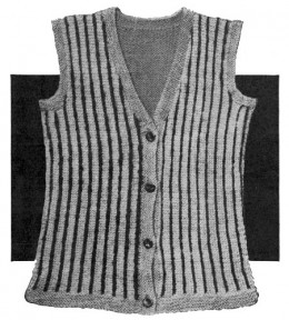 Odd Ball Vest Or Sleeveless Shell Pullover Knitting Pattern