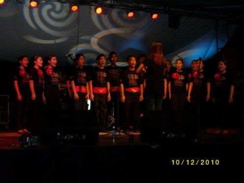 choir competitoon..won third place..