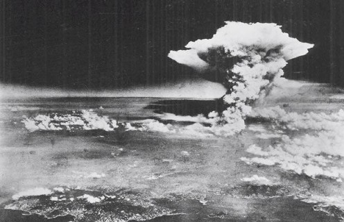Nuclear Bomb Explosion in Hiroshima in August 6, 1945.
