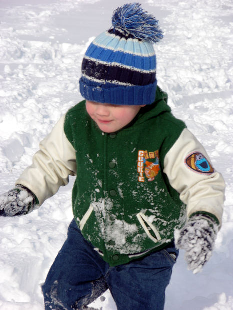 Kids love to play in the snow.