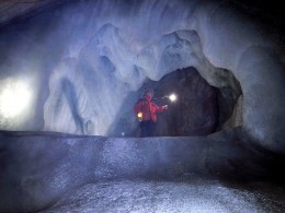 Inside the Eisriesenwelt Cave