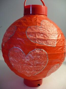 Valentine's Day Craft Tutorials: Heart-Embellished Paper Lanterns