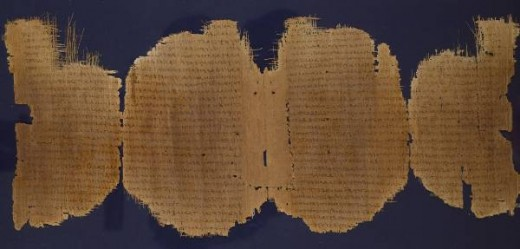 Many manuscripts are very old.  This photo above is a fragment of a Greek papyrus that is dated to the third century AD.