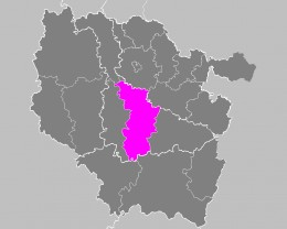 Map location of the Nancy 'arrondissement', in Lorraine, France
