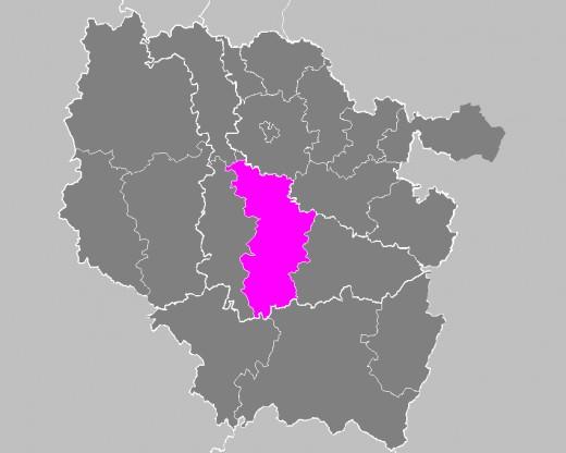 Map location of the Nancy 'arrondissement', in Lorraine, France