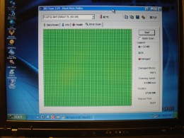Scan results for hard drive. No damaged block.