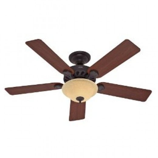 Hunter Fan 23723 52-Inch Five-Minute Ceiling Fan, New Bronze