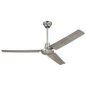 Westinghouse 7861400 Industrial 56-Inch Three-Blade Ceiling Fan with Ball Hanger Installation System, Brushed Nicke