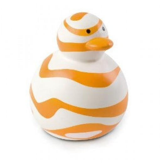 Bob- the BPA free rubber ducky. Find out where to get this toy below!