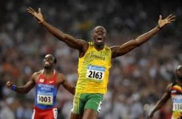 Usian Bolt in his world record race
