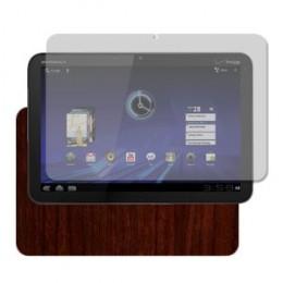 Dark Wood Techskin & Screen Protector For Motorola XOOM
